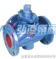旋塞阀:X44W-1.0三通铸铁旋塞阀
