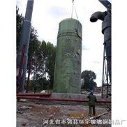15吨锅炉烟气除尘脱硫器-玻璃钢脱硫除尘塔