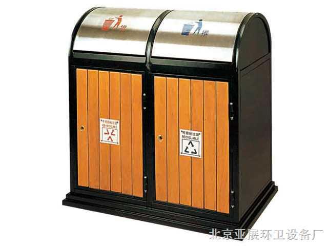 lw-034-北京环保分类垃圾桶,户外木条垃圾桶