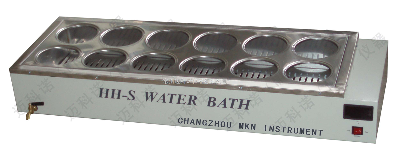 双列十二孔恒温水浴锅